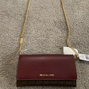 NWT Michael Kors wallet on a chain crossbody